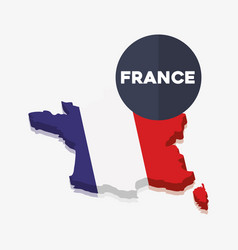 france culture card with map vector image