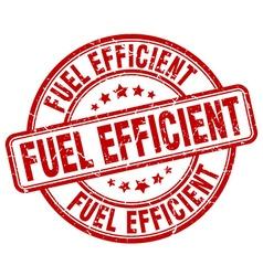 Fuel efficient red grunge round vintage rubber vector