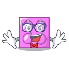 Geek toy brick character cartoon vector