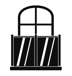 Glazed balcony icon simple style vector
