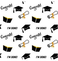 Graduation seamless pattern black and golden vector