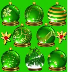 green ornaments vector image