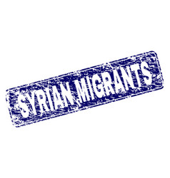 Grunge syrian migrants framed rounded rectangle vector