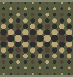 Halftone camo background dots texture retro vector