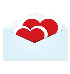 Heart stickers envelope vector image