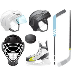 Hockey accessories vector