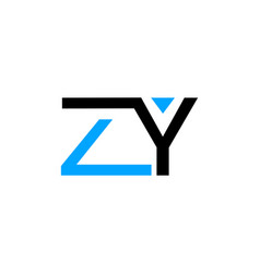 initial letter zy logo template design vector image