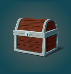 isometric wooden dower chest or pirate crate vector image