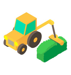 Lawnmower icon isometric 3d style vector