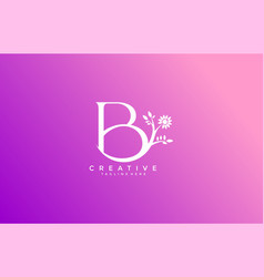 letter b linked fancy logogram flower logotype vector image