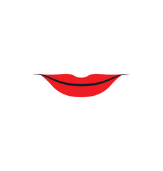 lips logo template vector image