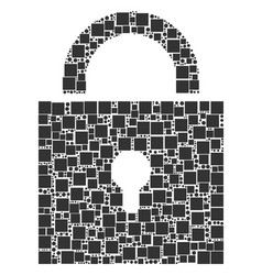 lock composition of squares and circles vector image