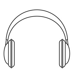 modern headphones icon outline style vector image