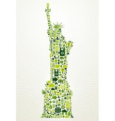 New York go green concept vector