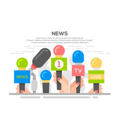 news flat banner poster vector image