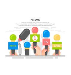 news flat banner poster vector image