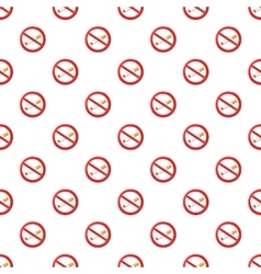 No smoking sign pattern cartoon style vector