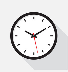 office clock with shadow on a white background vector image