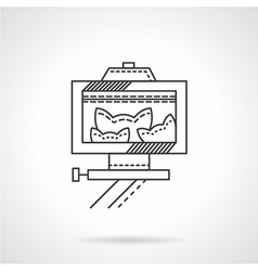 Pets selfie line icon vector