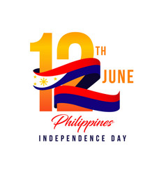 Philippines independent day template design vector