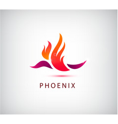 Phoenix bird icon logo vector
