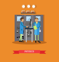 physics concept in flat style vector image