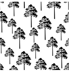 pine trees seamless vector image