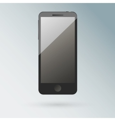Realistic black mobile phone with blank screen vector