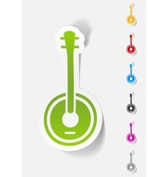 realistic design element banjo vector image