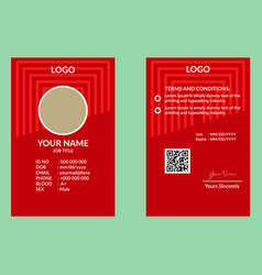 Red id card 19 vector