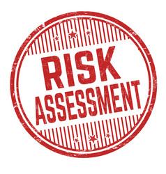 risk assessment grunge rubber stamp vector image