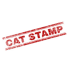 scratched textured cat stamp seal vector image