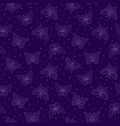 seamless bright pattern with butterflies vector image