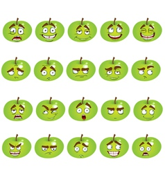 set of smiles apples vector image