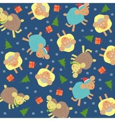 Sheep background christmas vector