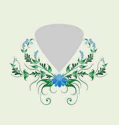 slavic national floral ornament for use in vector image