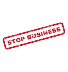 Stop Business Rubber Stamp vector image