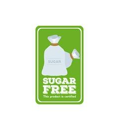 Sugar free label vector image