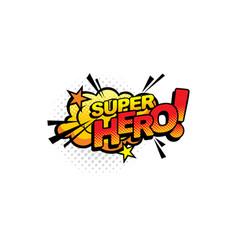 super hero pop art comics half tone bubble icon vector image