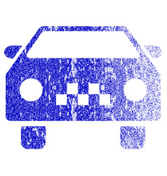 Taxi car textured icon vector