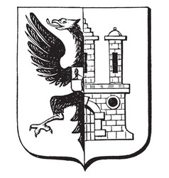 The great seal of bergedorf is a german-bergedorf vector