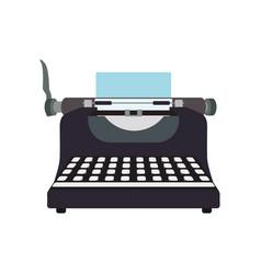 Typewriter vintage device vector