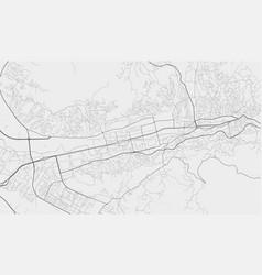 urban city map sarajevo poster grayscale vector image