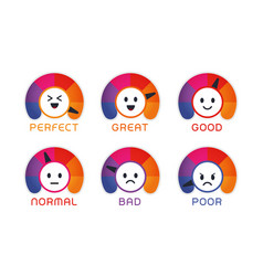 user satisfaction emoji flat vector image