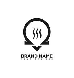 Vape shop logo design template vector