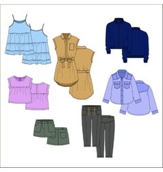 Vecor kids clothes Color vector