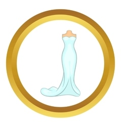 Wedding dress icon vector