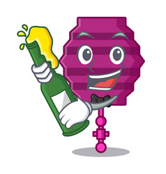 With beer paper lantern mascot cartoon vector