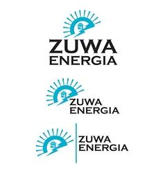 Zuwa energy logo vector image
