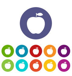 apple icons set flat vector image